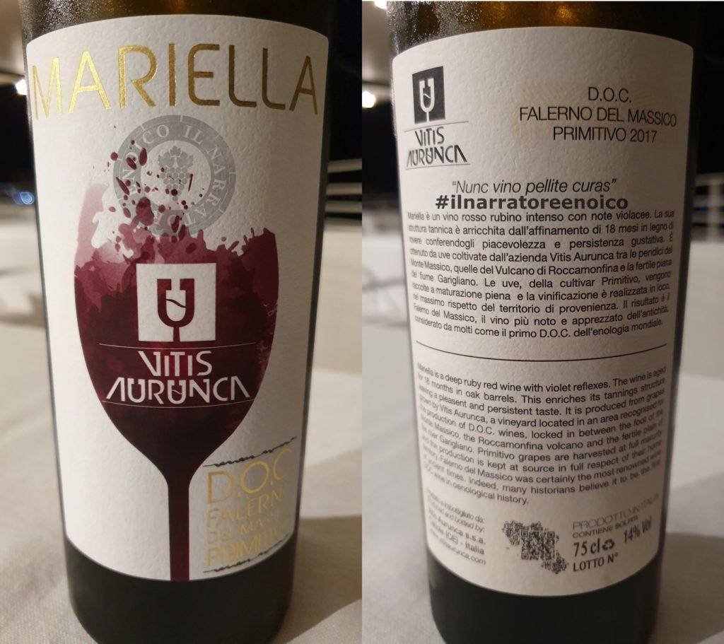 Falerno del Massico Mariella, Vitis Aurunca, 2017